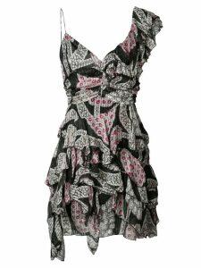 Isabel Marant printed ruffle dress - Black