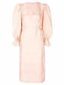 Rhode Resort bell sleeve dress - Orange