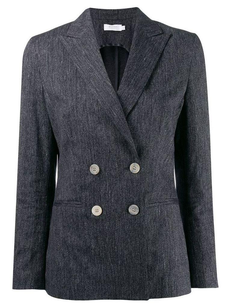 Barba double breasted blazer - Blue