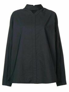 Jil Sander deconstructed band collar shirt - Grey