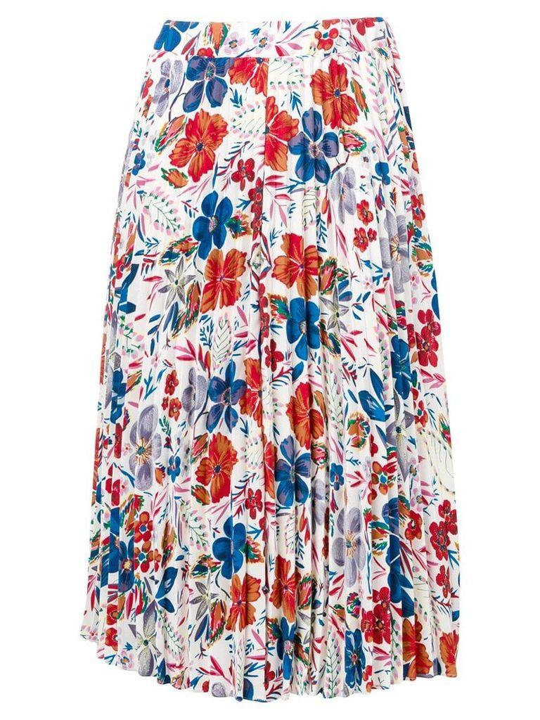Essentiel Antwerp floral-print skirt - White