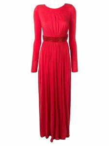 Elisabetta Franchi chain belt dress - Red