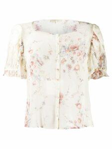 Love Shack Fancy Shaye floral-print blouse - Neutrals
