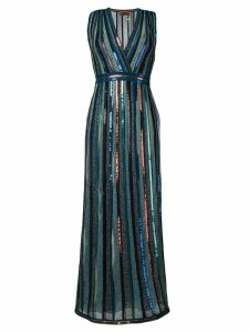 Missoni glitter v neck dress - Blue