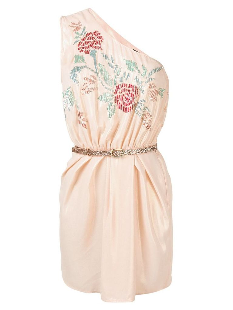 Elisabetta Franchi belted floral dress - Pink