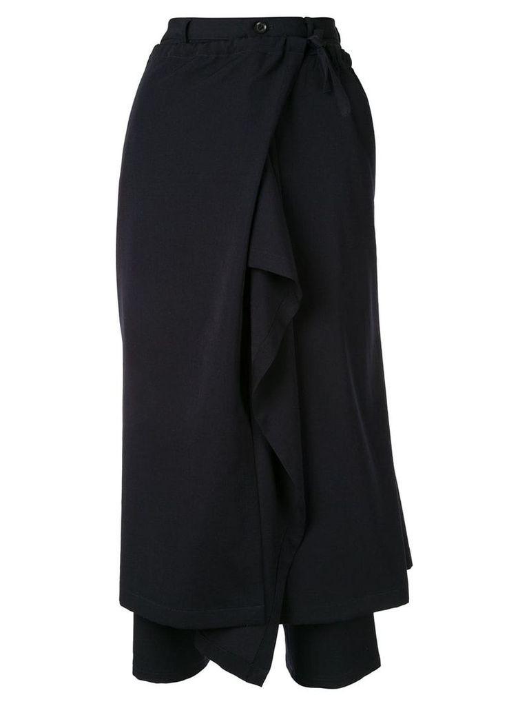 Yohji Yamamoto deconstructed skirt-pants - Blue