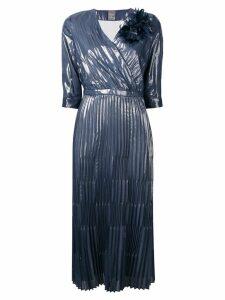 Lorena Antoniazzi plisse midi dress - Blue
