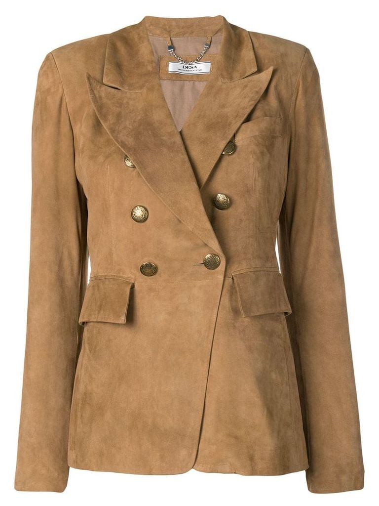 Desa 1972 double breasted blazer - Brown