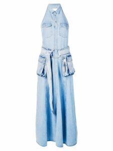 Diesel belted denim maxi dress - Blue