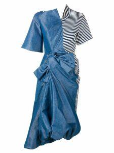Junya Watanabe asymmetric midi dress - Blue
