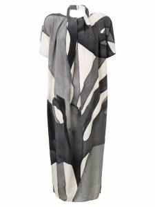 Max Mara abstract print midi dress - Grey