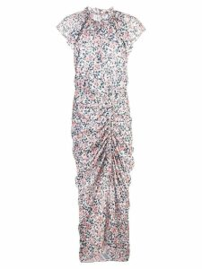 Veronica Beard ruched floral dress - Pink
