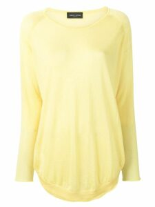 Roberto Collina knitted longline top - Yellow