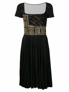 Versace Collection crystal-embellished dress - Black