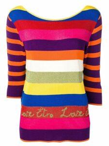 Etro rainbow knit sweater - Pink