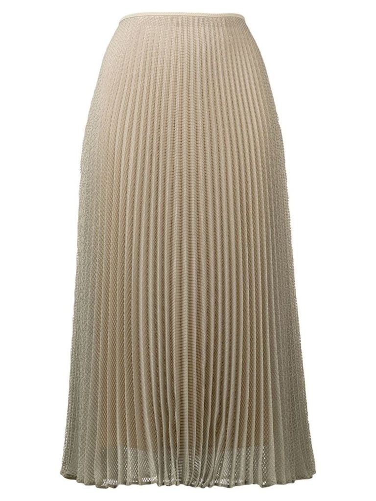 Fendi pleated textured skirt - Green