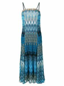Missoni long crochet dress - Blue