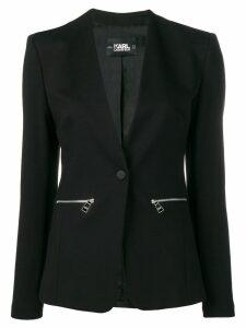 Karl Lagerfeld v-neck blazer - Black