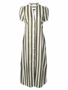 Peter Taylor striped shirt dress - Green