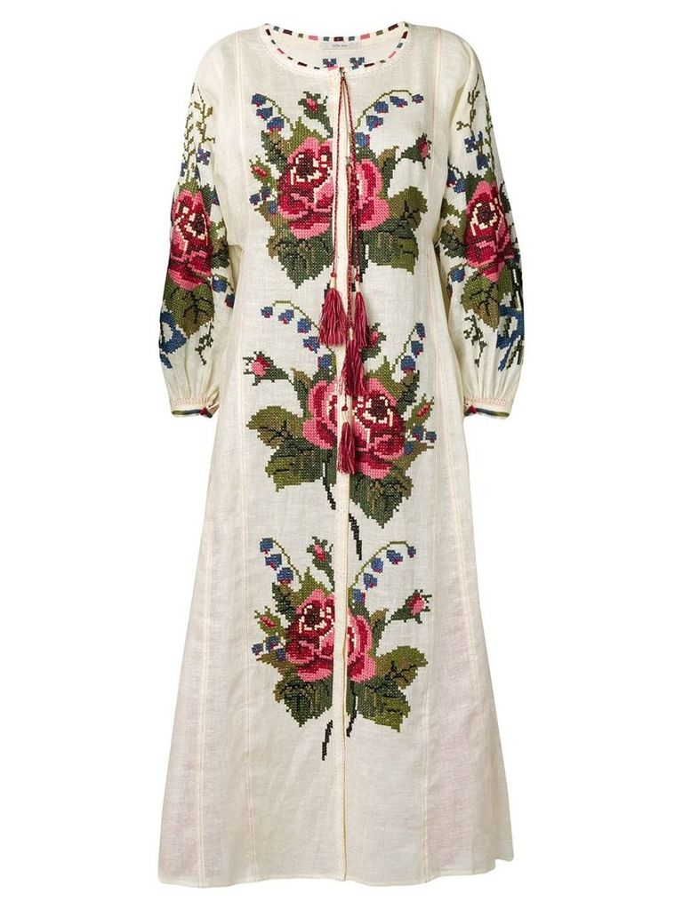 Vita Kin floral-embroidered dress - Neutrals