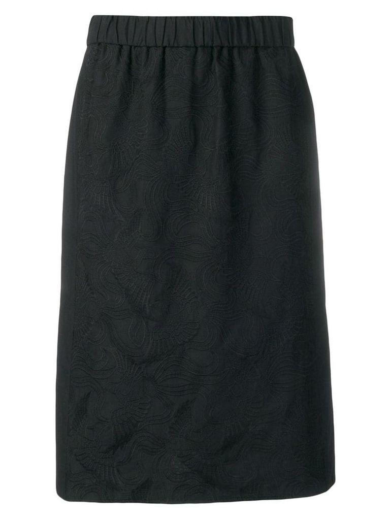 Kenzo Flying Phoenix midi skirt - Black