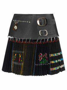 Chopova Lowena printed pleated mini skirt - Black