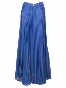 Max Mara pleated flared dress - Blue