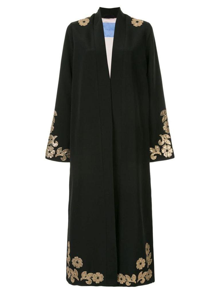 Macgraw Whiskey embellished robe coat - Black