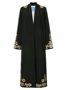 Macgraw Whiskey embellished robe coat - Black