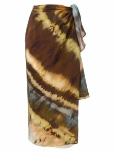 Weekend Max Mara wrap midi skirt - Brown