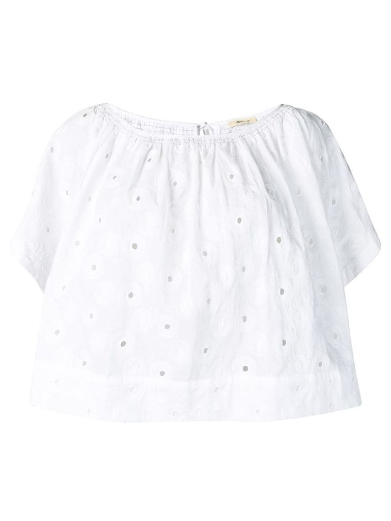 Bellerose cropped loose fit blouse - White