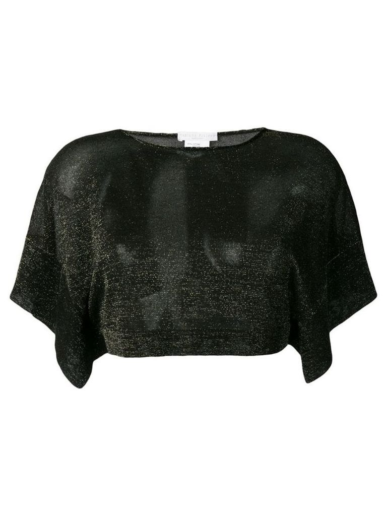 Fabiana Filippi cropped shimmer blouse - Black