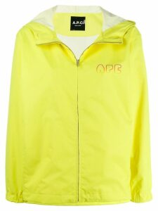 A.P.C. gradient logo windbreaker - Yellow