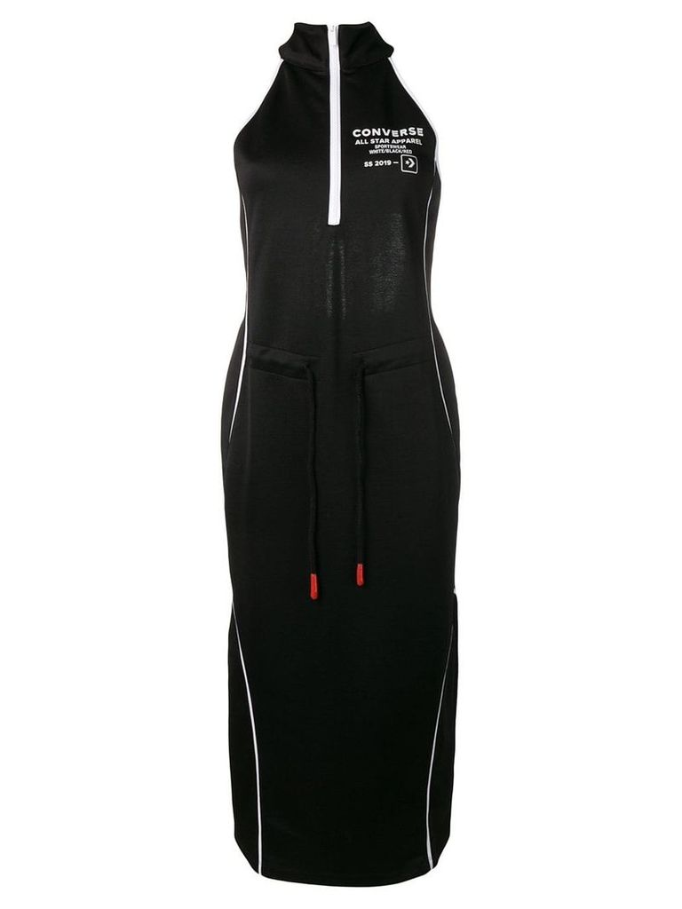 Converse logo print dress - Black
