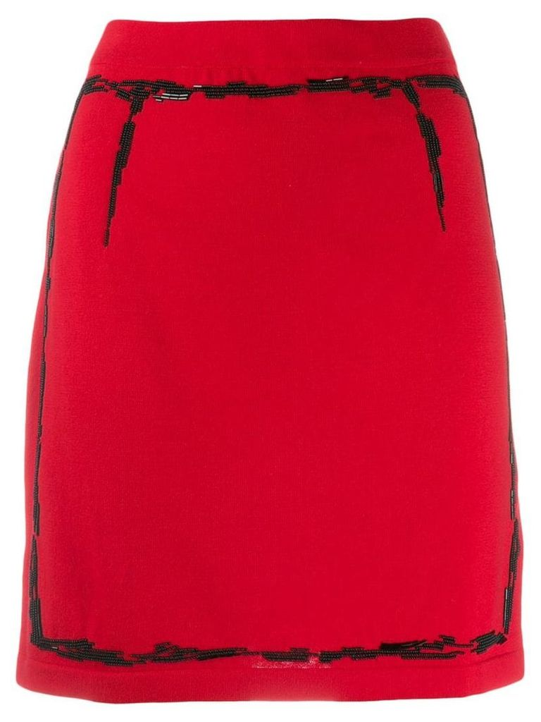 Moschino bead embroidered knitted skirt