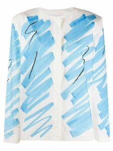 Moschino brushstroke shirt - Blue