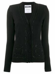 Moschino crystal embellished cardigan - Black