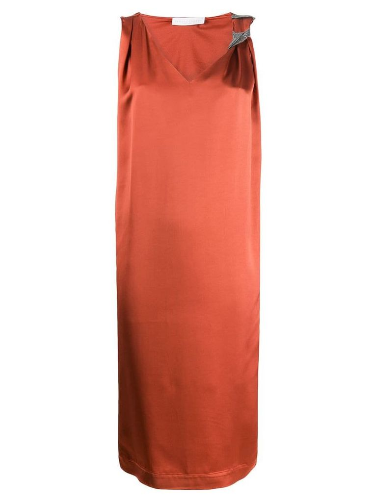Fabiana Filippi slip dress - Orange