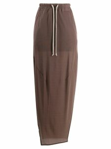 Rick Owens drawstring waist skirt - Brown