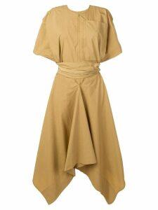 Golden Goose asymmetric midi dress - Neutrals