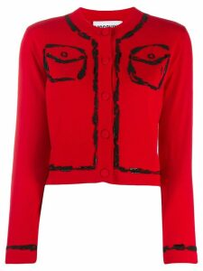 Moschino bead embroidered cardigan
