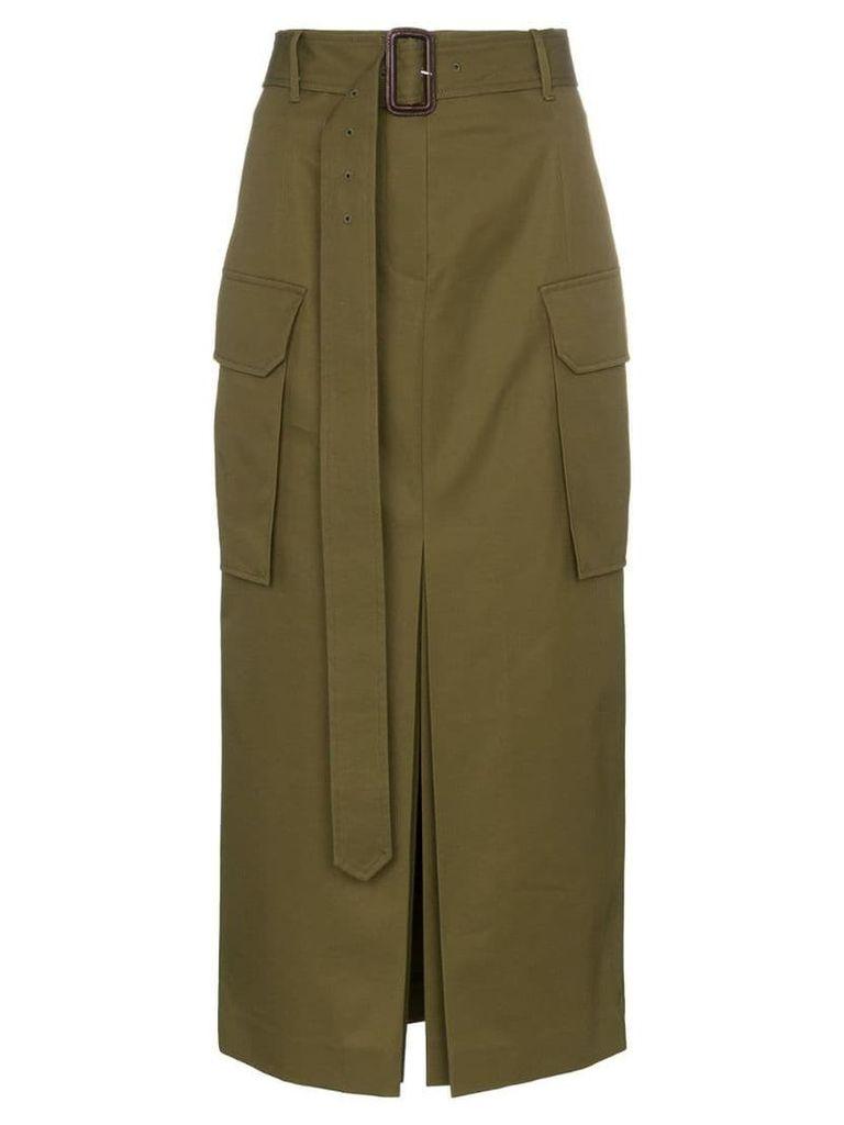 Juun.J belted combat skirt - Green