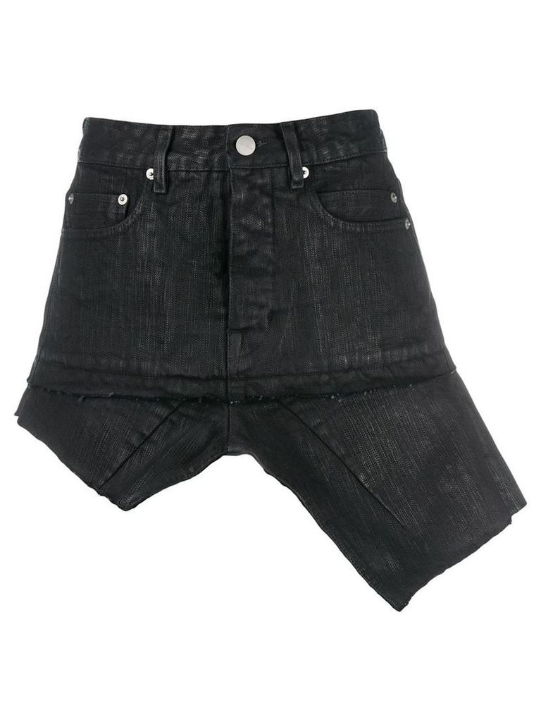 Rick Owens Sisy asymmetric denim skirt - Black