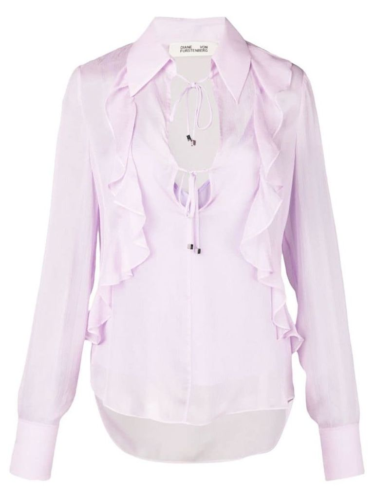 Diane von Furstenberg Everleigh collared blouse - Purple