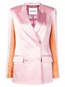 Each X Other colour block satin blazer - Pink
