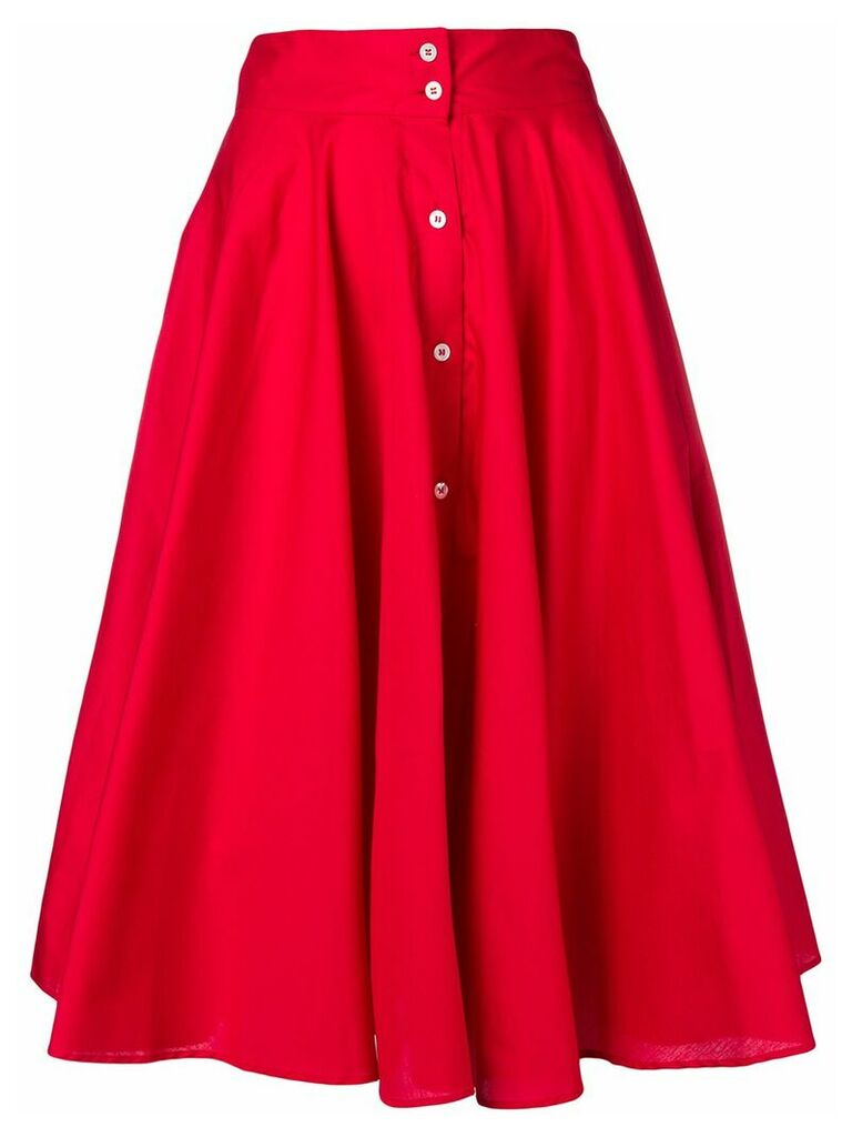 Peter Taylor pleated skirt - Red
