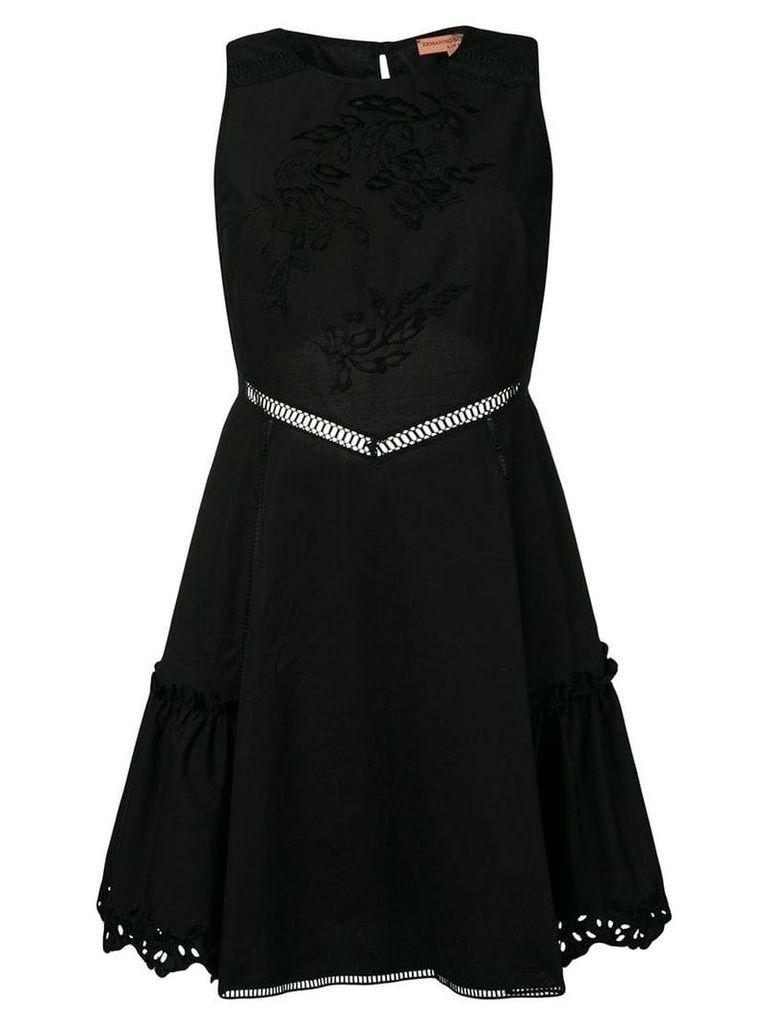 Ermanno Scervino embroidered mini dress - Black
