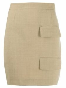 Situationist double pocket pencil skirt - Neutrals