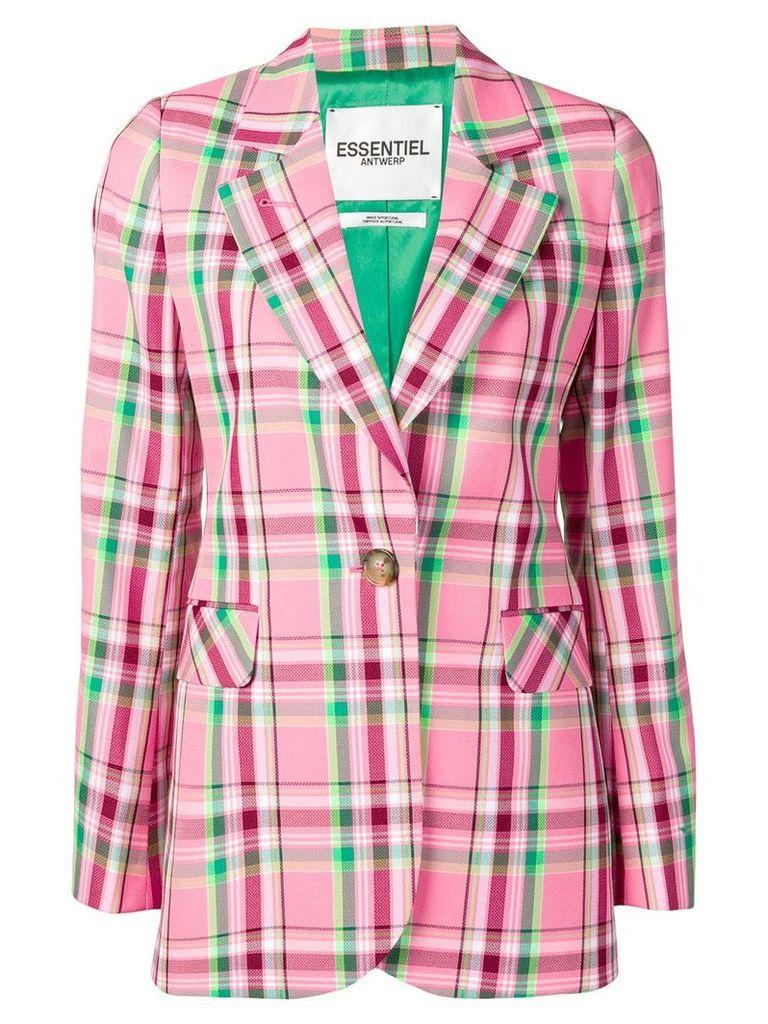Essentiel Antwerp plaid blazer - Pink