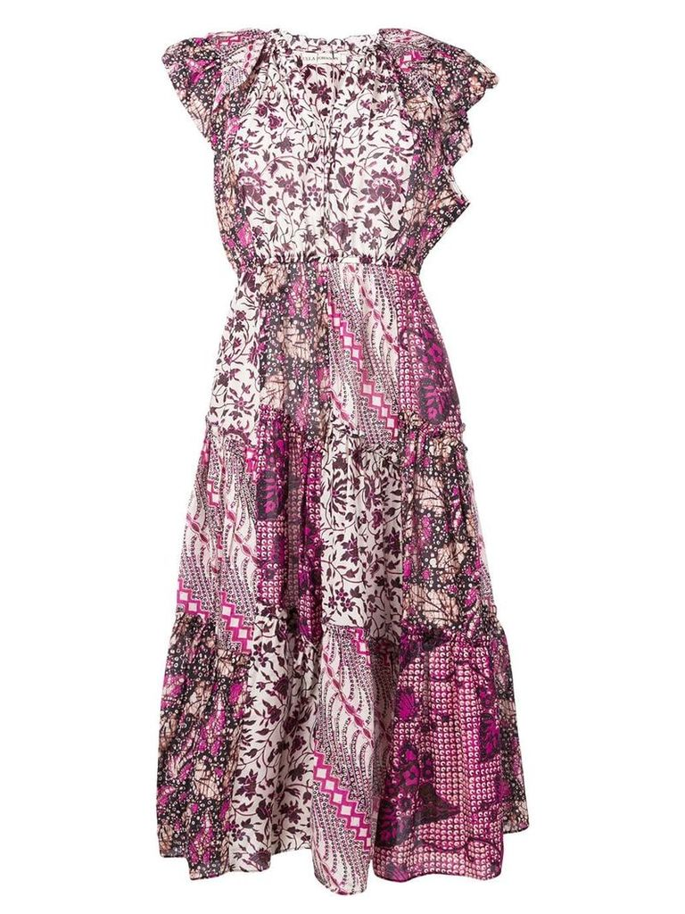 Ulla Johnson contrast print dress - Pink